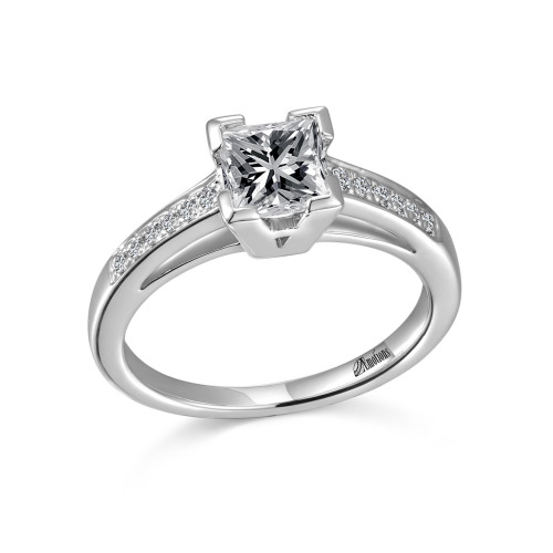 diamond cinderella engagement enchanted jewelry disney fine rings sapphire ring created blue and