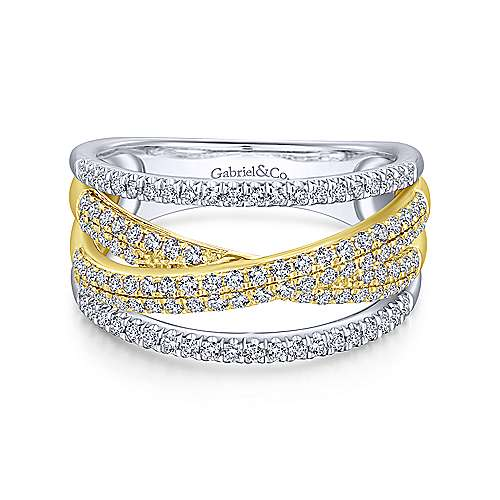 Gabriel-14K-Yellow-White-Gold-Split-Shank-Twisted-Ring~LR51337M45JJ-1