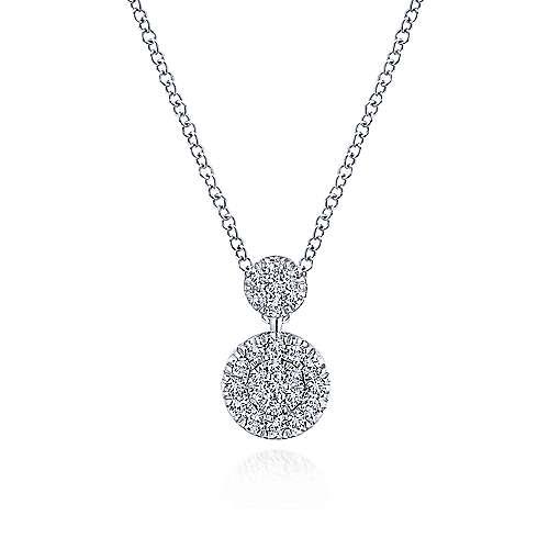 Gabriel-14k-White-Gold-Fashion-Necklace-Double-Diamond-Disc-Necklace~NK5831W45JJ-1