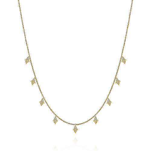 Gabriel-175inch-14K-Yellow-Gold-Diamond-Station-Necklace~NK5808Y45JJ-1